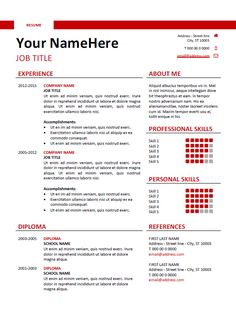 Simple Free Resume Template Hongdae Is A Free Modern Resume Templateonepage Clean With