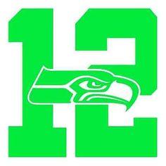 Seattle Seahawks 12th Man Die Cut Decal/Sticker
