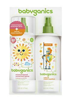 Babyganics Mineral-Based Baby Sunscreen Spray SPF 50, 6oz Spray Bottle   Natural Insect Repellent 6oz Spray Bottle Combo Pack BabyGanics https://www.amazon.com/dp/B00AN4AS2S/ref=cm_sw_r_pi_dp_lz3zvb0H8XQ5Q
