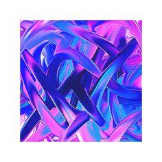 Leinwanddruck  Wild pink blau abstrakt