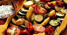 Hier könnt ihr kreativ werden und einfach eure Lieblinge vereinen! Grilled Vegetables, Veggies, Fodmap, Zucchini, Side Dishes, Food And Drink, Low Carb, Vegetarian, Healthy Recipes