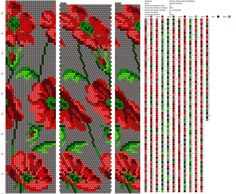 25 around tubular bead crochet rope pattern Crochet Bracelet Pattern, Crochet Beaded Bracelets, Bead Crochet Patterns, Bead Crochet Rope, Beaded Crafts, Beading Patterns, Beading Tutorials, Loom Beading, Loom Knitting