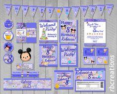 Blue Tsum Tsum Disney Personalized Digital Birthday by rbcreation