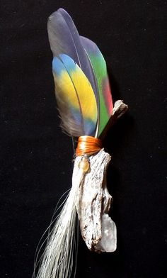 Dreamtime Smudge Fan by wildspirits on Etsy