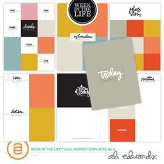 Week In The Life™ 6x8 Layered Templates Vol. 4 at Ali Edwards