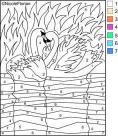 Nicole's Free Coloring Pages: COLOR BY NUMBERS!