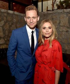 """Actors Tom Hiddleston and Elizabeth Olsen pose at the after party for the premiere of Sony Pictures Classic's """"I Saw The Light"""" at Sadie's Kitchen on March 2016 in Los Angeles, California. Get premium, high resolution news photos at Getty Images Tom Holland, Loki, Avatar, Elizabeth Olsen Scarlet Witch, Avengers Cast, I Saw The Light, Marvel Actors, Marvel 3, Cultura Pop"""