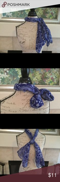 Blue and White Scarf Perfect scarf for those summer cookouts! Pair with a basic red tee for a classic look! Accessories