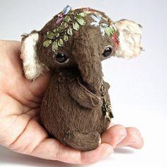 Татьяна Скалозуб teddy, teddy-elephant, elephant, toy, handmade toys, Teddy's friends, тедди, игрушки тедди, игрушки ручной работы, друзья тедди, слон, слоник