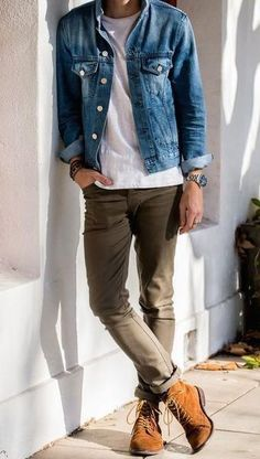Mens Outfit Ideas Pictures 101 hot mens fashion style outfits ideas to impress your girl Mens Outfit Ideas. Here is Mens Outfit Ideas Pictures for you. Mens Outfit Ideas mens fashion what did men wear in the Mens Outfit Ideas . Rugged Style, Style Casual, Men Casual, Men's Style, Guy Style, Casual Boots, Basic Style, Casual Wear, Teen Style