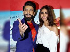 Ranveer Singh and Vaani Kapoor at the Twinkle Khanna book Launch