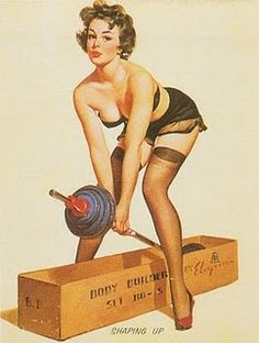 Cute Vintage workout pic