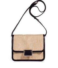 MARC BY MARC JACOBS - Black Solid Straw Jane Friend Crossbody Bag. http://fashionlovestruck.com/trendy-looks-for-all-types-of-occasions/#