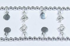 Silver Anklet 925 Sterling Silver Ball And Oval  Shape by GEMSICON