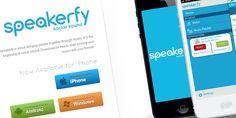 http://speakerfy.com/ - Vuoi avere un impianto stereo, senza avere un impianto stereo? (?) Questa è l'app che fa per te! La scarichi su qualche dispositivo, li colleghi, e fai partire la musica da un solo dispositivo, usando le casse anche di tutti gli altri.. Tag: app, iphone, speaker, music, musica, store,