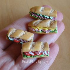 Talk about portion control....These look so tasty but so small lol