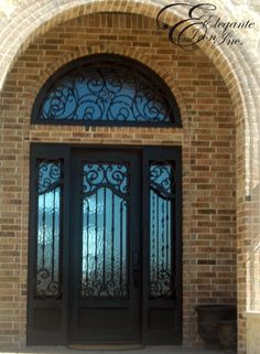 Contemporary Wrought Iron Door. | Double Doors | Pinterest | Wrought Iron,  Iron And Doors