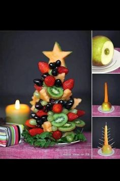 Fruit Christmas Tree Appetizer