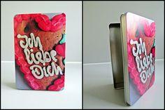 """Blechdose """"Ich liebe Dich"""" Lebkuchenherz von Art-MG auf DaWanda.com"""