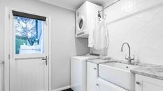 Energywise recommends vented dryers are vented to the outdoors. This laundry was designed by Celia Visser.