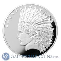 1 oz Silver Round | Indian Head Design (.999 Pure) http://www.gainesvillecoins.com/category/281/2014-silver-bullion-coins.aspx