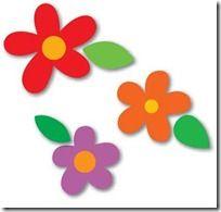 Moldes flores y hojas para manualidades en Goma Eva | Colorear