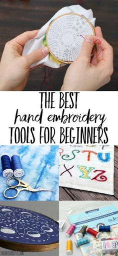 Favorite Hand Embroidery Tools Overwhelmed with what to buy when learning how to embroider? Check out this list of best hand embroidery tools! What you need vs. what's nice to have, this list will have you ready to start embroidering! Embroidery Tools, Sewing Machine Embroidery, Embroidery Stitches Tutorial, Embroidery Supplies, Learn Embroidery, Crewel Embroidery, Hand Embroidery Patterns, Embroidery Techniques, Ribbon Embroidery