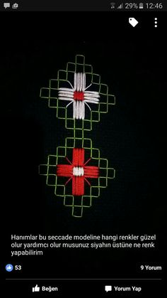 This Pin was discovered by GÜL Embroidery Stitches Tutorial, Hand Embroidery, Blackwork, Bargello, Origami, Cross Stitch, Diy Projects, Sewing, Pattern