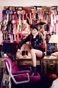 Edie Campbell British Vogue July 2010