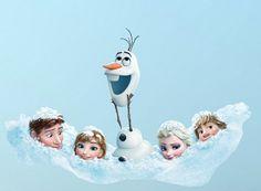 http://wallartkids.com/frozen-wall-stickers #Frozen characters wall sticker