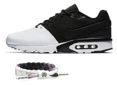 #CLATSANDKICKS | The Chief Miniclat bracelet X Nike Air Max BW Ultra White Black by rastaclat-official on Polyvore featuring white, black, nike, airmax and rastaclat