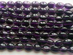 Amethyst Plain Oval Beads Amethyst Smooth Oval by gemsforjewels