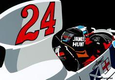 Interview with Automotive Vinyl Artist Joel Clark Formula 1, James Hunt, Automotive Art, Automotive Solutions, Automotive Engineering, Automotive Industry, Clark Art, Gilles Villeneuve, Automobile