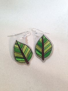 Leaf Earrings on Etsy, $8.00