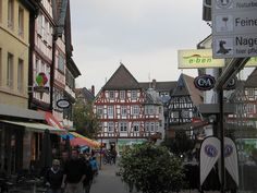 Bensheim, Germany.  Friendly town with great shopping and restaurants, also known for fall Winzerfest.
