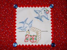 Todos os tamanhos | SWEET TREAT - Hand embroidered table topper with vintage embroidery design | Flickr – Compartilhamento de fotos!