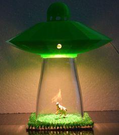 Desk Lamp UFO Alien Abduction Spaceship Bedroom Night Light Home ...