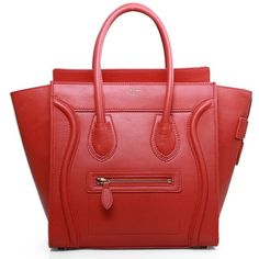 Celine Boston Micro Bag Luggage Tote Red (900 BRL) ❤ liked on Polyvore featuring bags, handbags, tote bags, man bag, leather man bags, red leather purse, celine tote and red leather tote bag