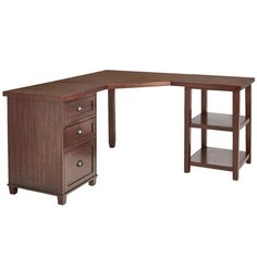 Torrance Mahogany Brown Corner Desk Top