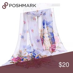 Women's Chiffon Wrap/Scarf NWOT Fashion Girl Women Long soft Wrap scarf Ladies Shawl Chiffon Scarf Scarves   Condition:100%Brand New and high quality . Type: Scarf Material:Chiffon Color: White with Pink Flowers  Gender: Women's Style: Fashion Theme: Beauty Pattern: Flower Length: 160cm (Approx.) Width: 50cm(Approx.) Package Included:1 x Scarf Accessories Scarves & Wraps