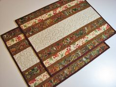 Quilted Placemats, Set of 2 Autumn Placemats, Quiltsy Handmade by VillageQuilts on Etsy