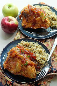 Apple Cider Glazed Chicken   Grandbaby Cakes