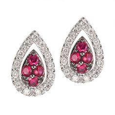 http://rubies.work/0066-ruby-rings/ Ruby white gold stud earrings