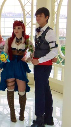 Steampunk Ariel and Eric by lulutetium.deviantart.com on @DeviantArt