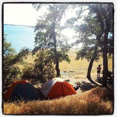 Camping paradise at Folsom Lake during the biggest heat wave of the year.