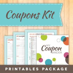 Coupon Binder Oranization Printables, Coupon File Folder Labels, Print ...