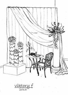 Wedding Drawing, Wedding Painting, Wedding Stage Design, Wedding Designs, Charcoal Drawing Tutorial, Future Artist, Decoration Evenementielle, Wedding Planner Book, Wedding Illustration