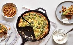 When in doubt, frittata. This recipe turns greens and beans into a complete one-skillet supper. Easy Frittata Recipe, Baked Frittata, Frittata Recipes, Vegetarian Protein, Vegetarian Recipes, Cooking Recipes, Egg Recipes, Brunch Recipes, Recipies