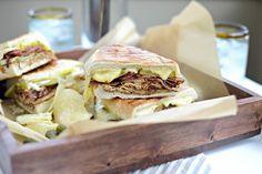 Pressed Cuban Sandwiches with Roasted Garlic Aioli
