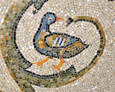 Ravenna - Basilica di San Vitale - floor mosaic 6thC. Mosaic Animals, Mosaic Birds, Mosaic Flowers, Mosaic Designs, Mosaic Patterns, Mosaic Ideas, Byzantine Art, Byzantine Mosaics, Ravenna Mosaics